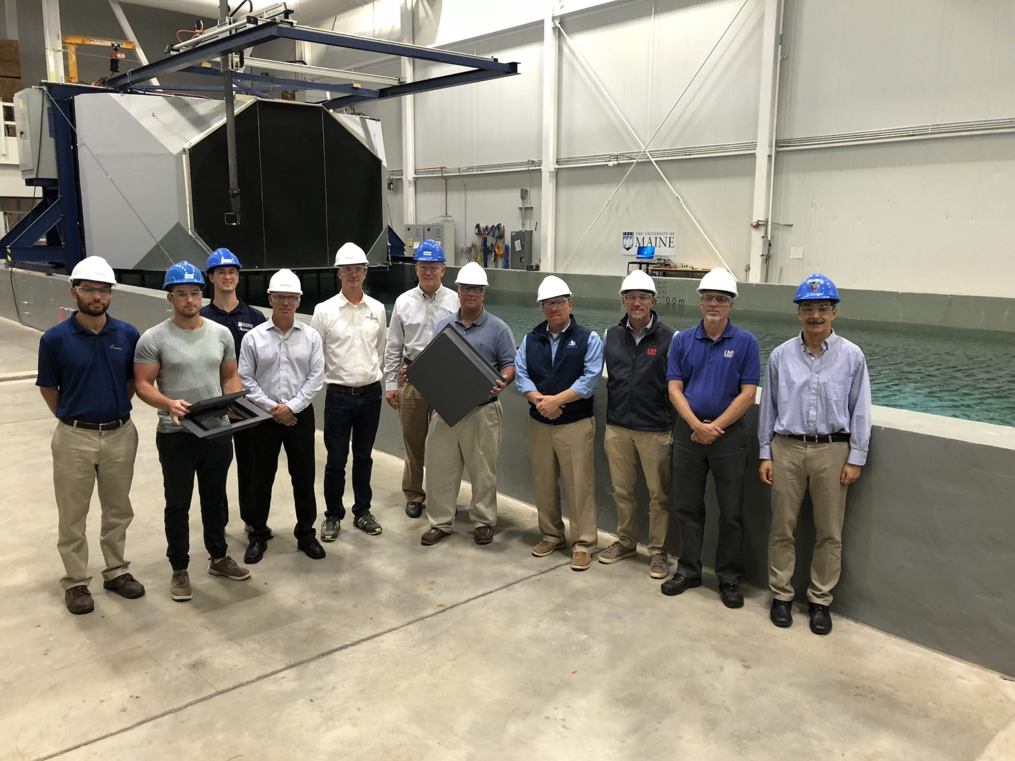 Boat builders from Maine visited the UMaine Composites Center. Image via UMaine
