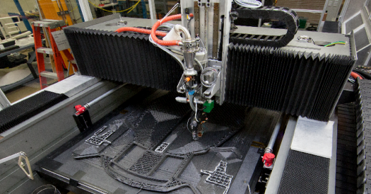A Big Area Additive Manufacturing Machine (BAAM) at the Oak Ridge National Laboratory, one of DoE's prime facilities. Image via the U.S Department of Energy