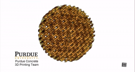 An example Bouligand design for 3D printed cement. Image via Purdue University