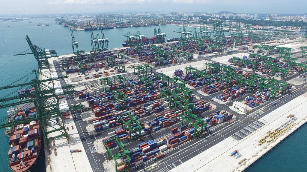 The Pasir Panjang Terminal in Singapore. Image via Port Singapore Authority