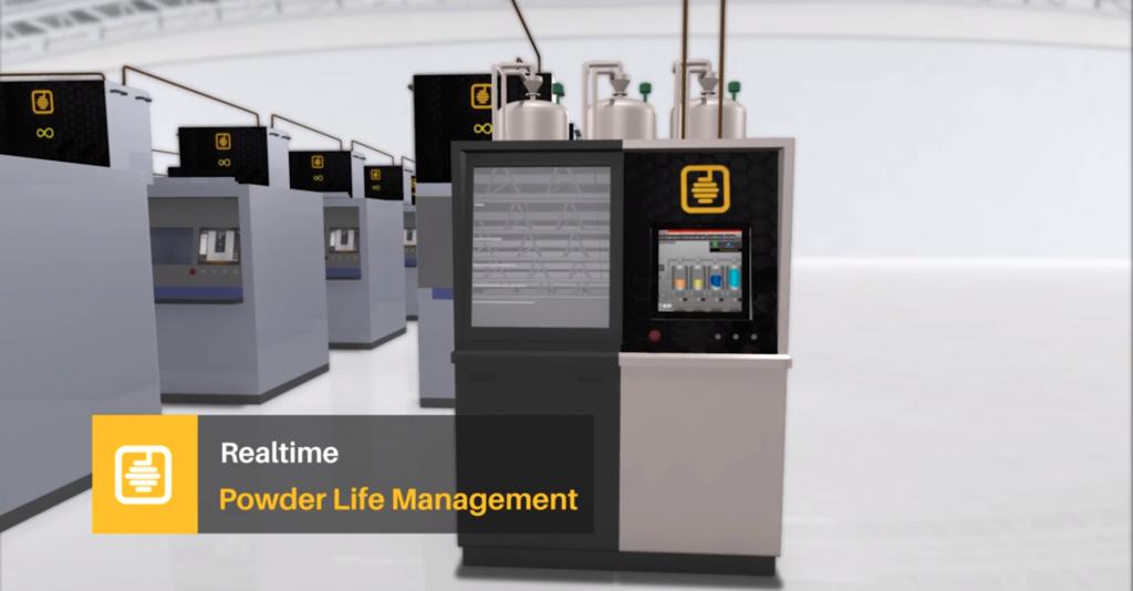 Realtime powder life management representation. Image via Addihive
