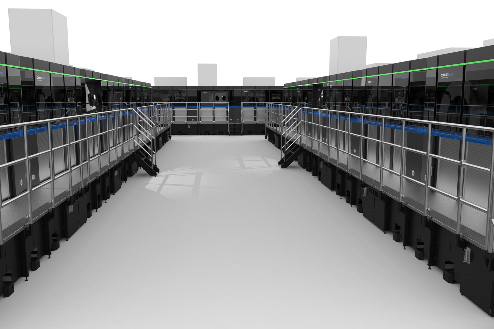 The fully automated M Line Factory system. Image via Concept Laser