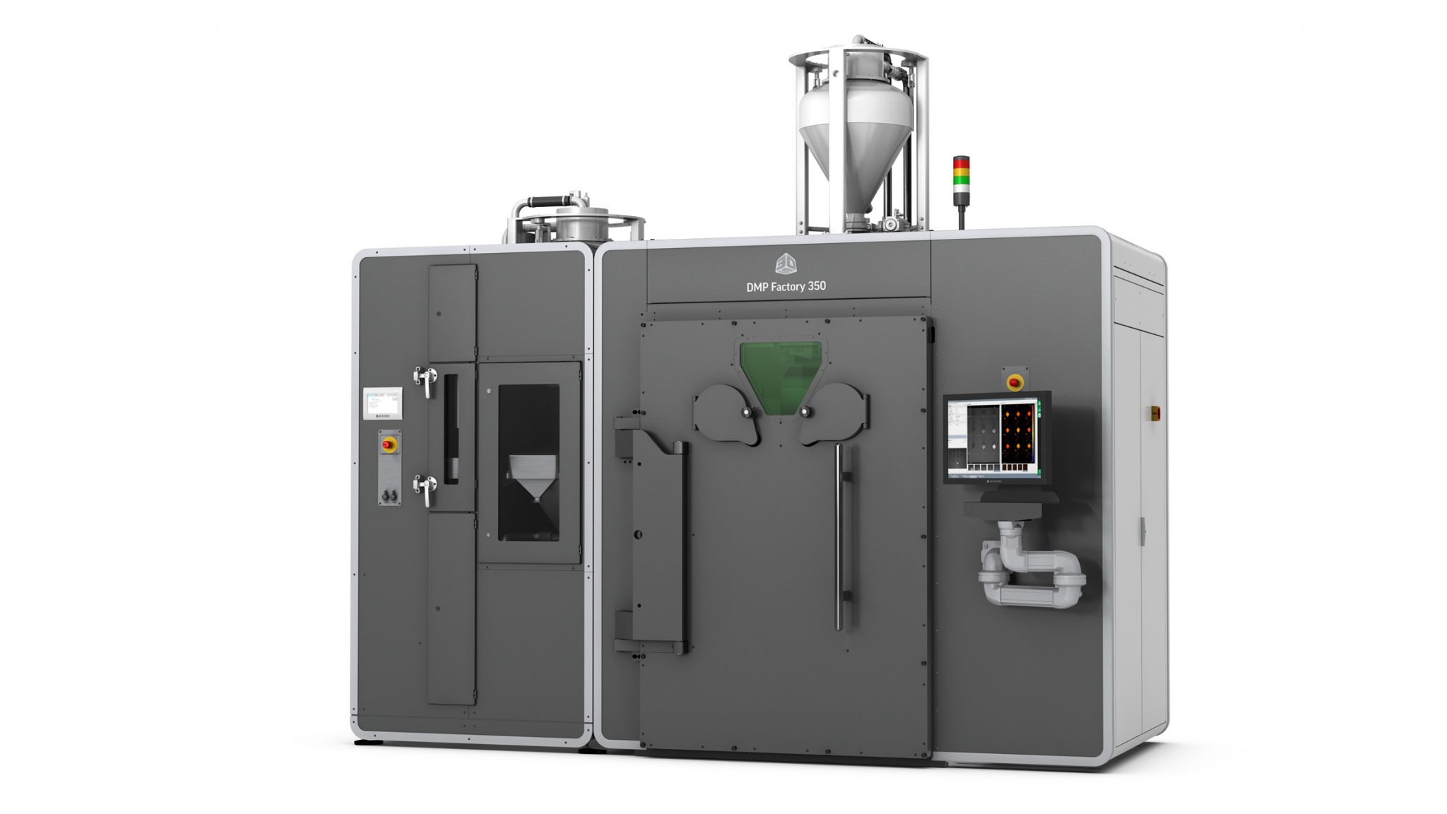 Tbe 3D Systems DMP Factory 350 metal 3D printer. Photo via 3D Systems.