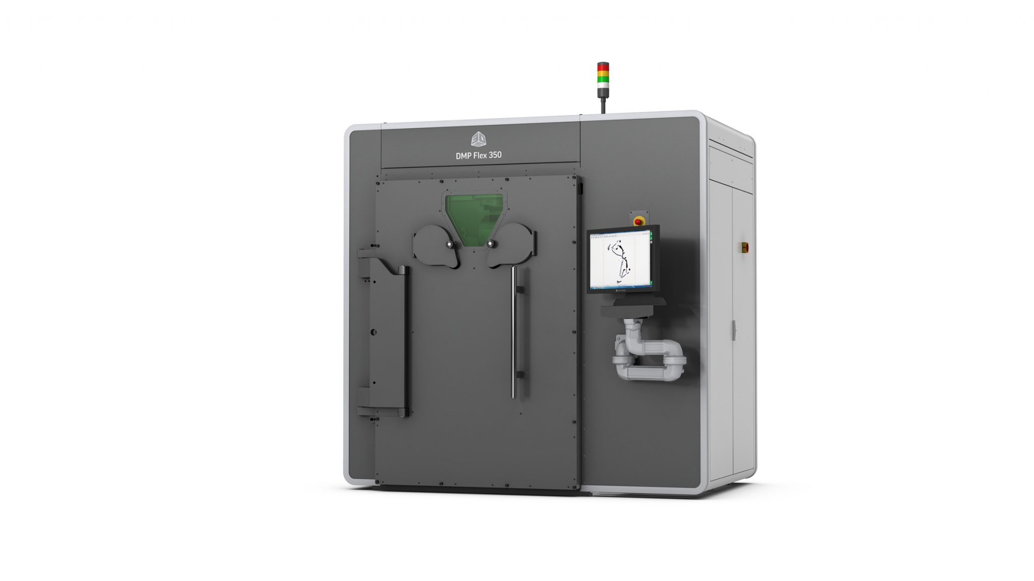 3D Systems DMP Flex 350 metal 3D printer for 24/7 part production and flexible application use. Photo via 3D Systems.