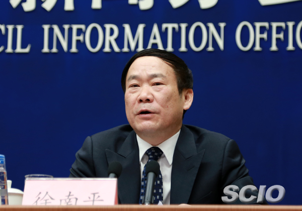 Xu Nanping, vice minister of China's Ministry of Science and Technology. Photo via CGTN