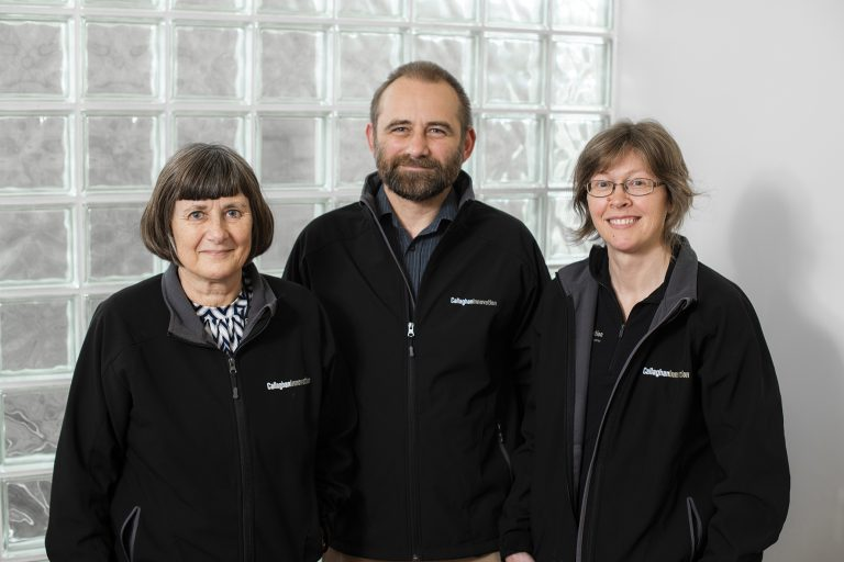 Ann Manning, Andrew Best and Andrea Bubendorfer of Callaghan Innovation's MicroMaker3D team.
