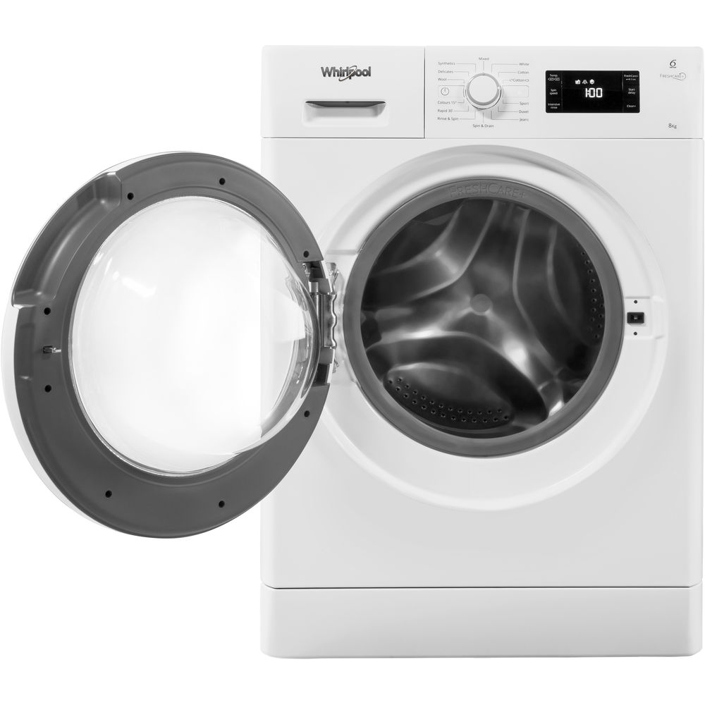 A Whirlpool FreshCare FWG81496W Washing Machine. Photo via Whirlpool