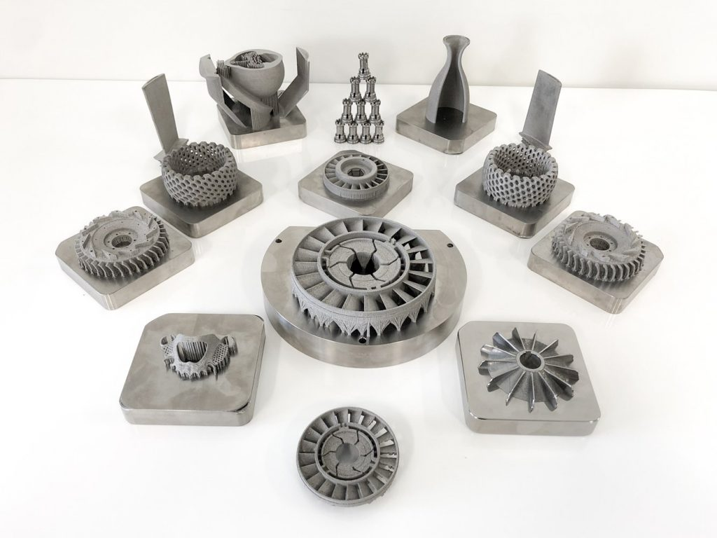 Metal 3D printed samples from Aurora Labs. Image via Aurora Labs