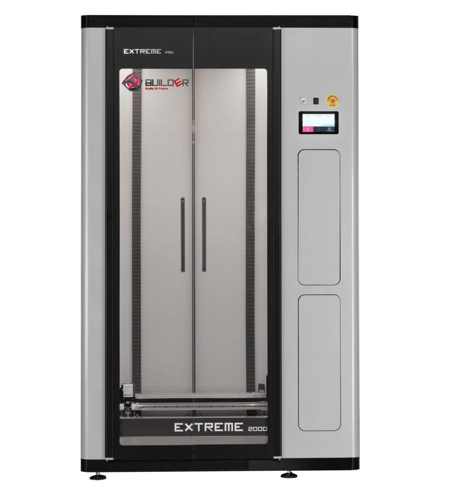 The Builder Extreme 2000 Pro 3D printer. Photo via Builder3D