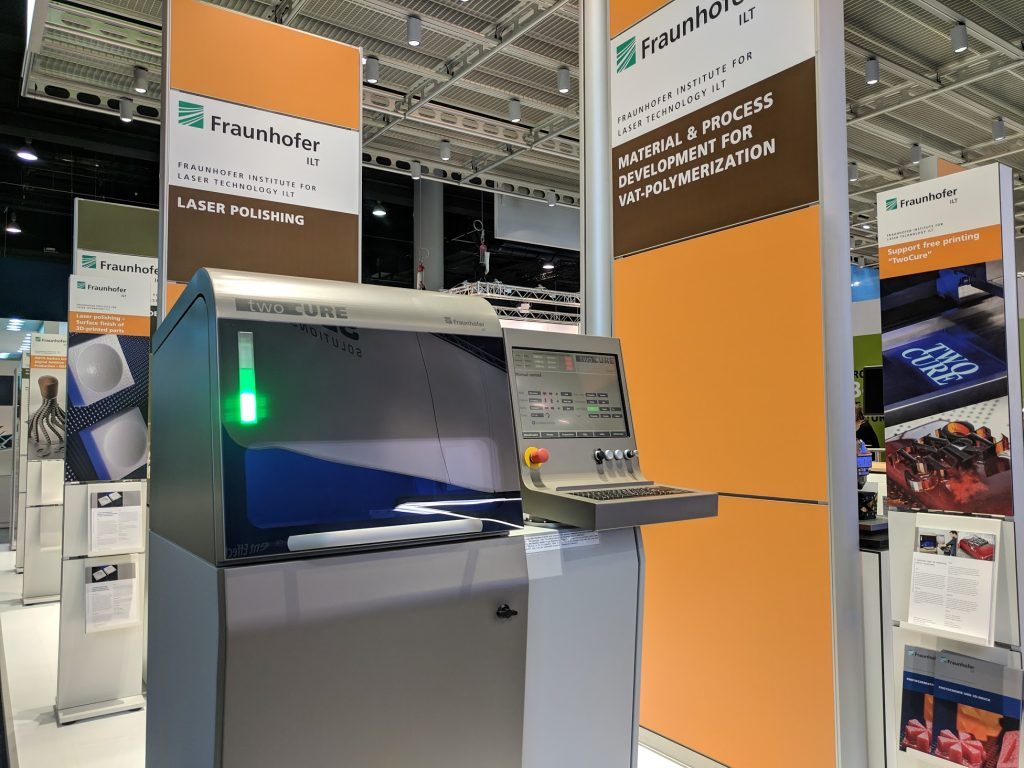 Fraunhofer ILT TwoCURE 3D printer. Photo by Michael Petch.