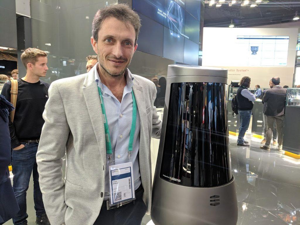 Gianni Zitelli Head of 3D Resin Technology at Sisma. Photo by Michael Petch.
