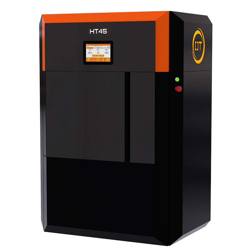 The high temperature HT45 FFF 3D printer. Photo via Dynamical Tools
