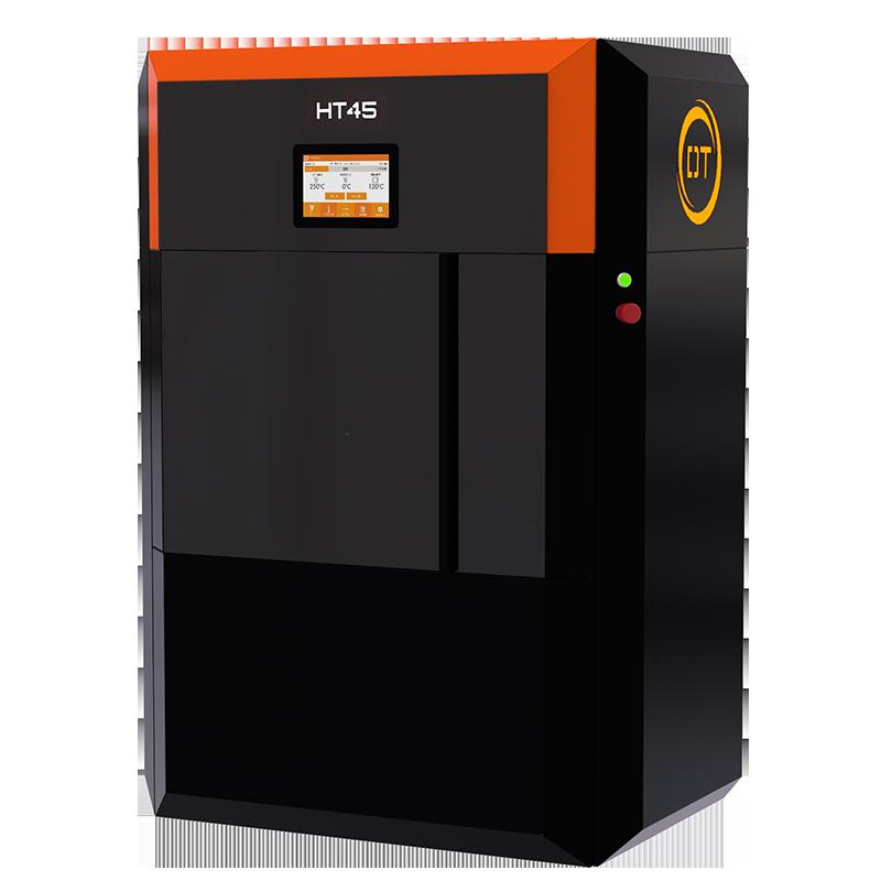 The high temperature HT45 FFF 3D printer. Photo via Dynamical Tools