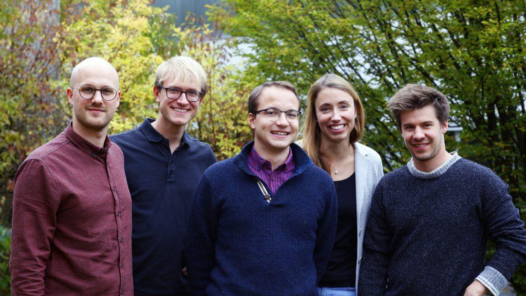The Kumovis team from left to right. Alexander Henhammer, Stefan Fischer, Sebastian Pammer, Miriam Haerst, Stefan Leonhardt.