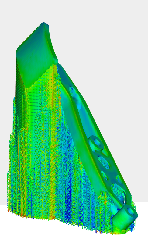 Automated generation of a metal 3D part design. Image via Materialise.