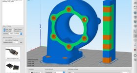 Multi-Material Turbo Housing using Simplify3D 4.1. Image via Simplify3D.