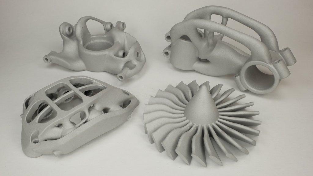 3D printed metal parts. Photo via MetalMaker3D.