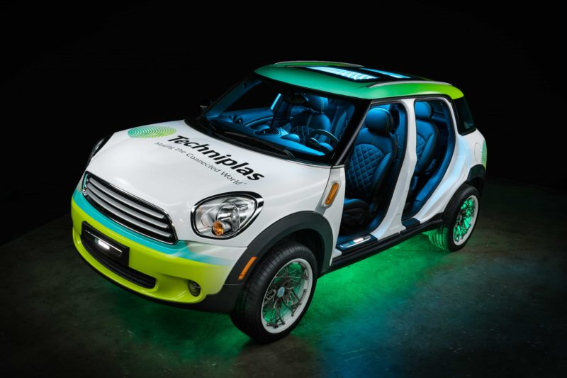 The concept vehicle created using additive manufacturing technologies. Photo via Techniplas.