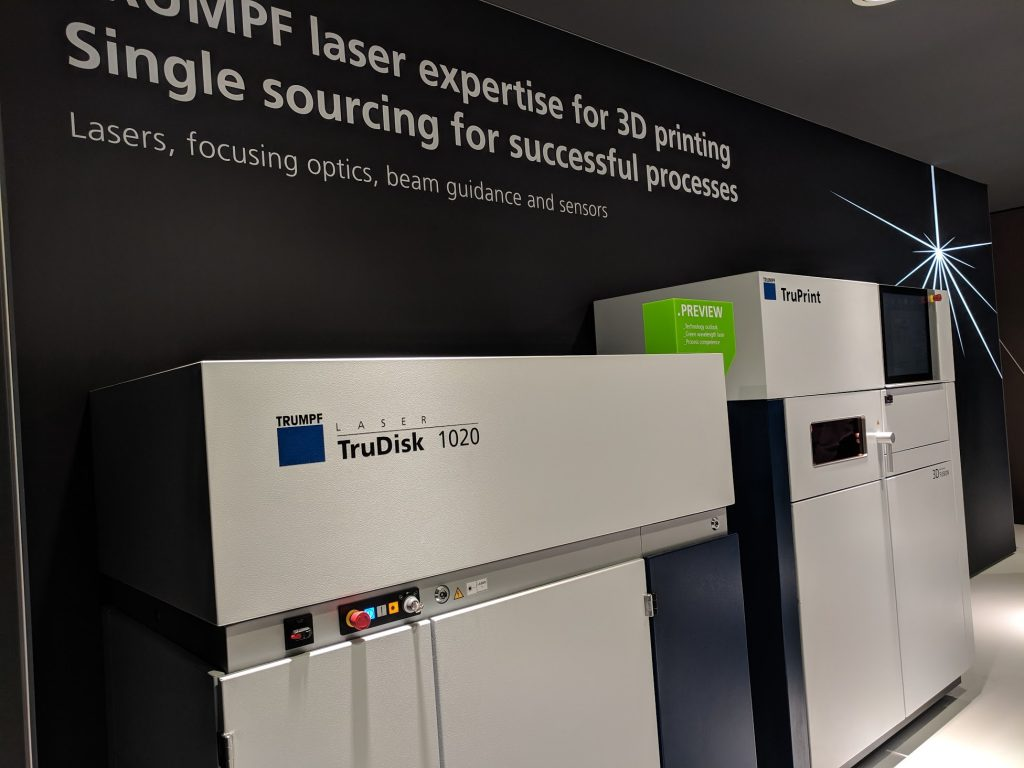 Trumpf green laser technology for 3D printing gold and copper. Photo by Michael Petch.