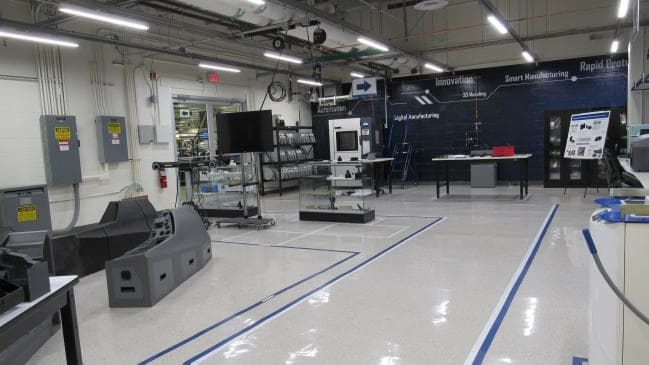 A Lockheed Martin innovation laboratory, where parts of FMS are 3D printed. Image via Lockheed Martin