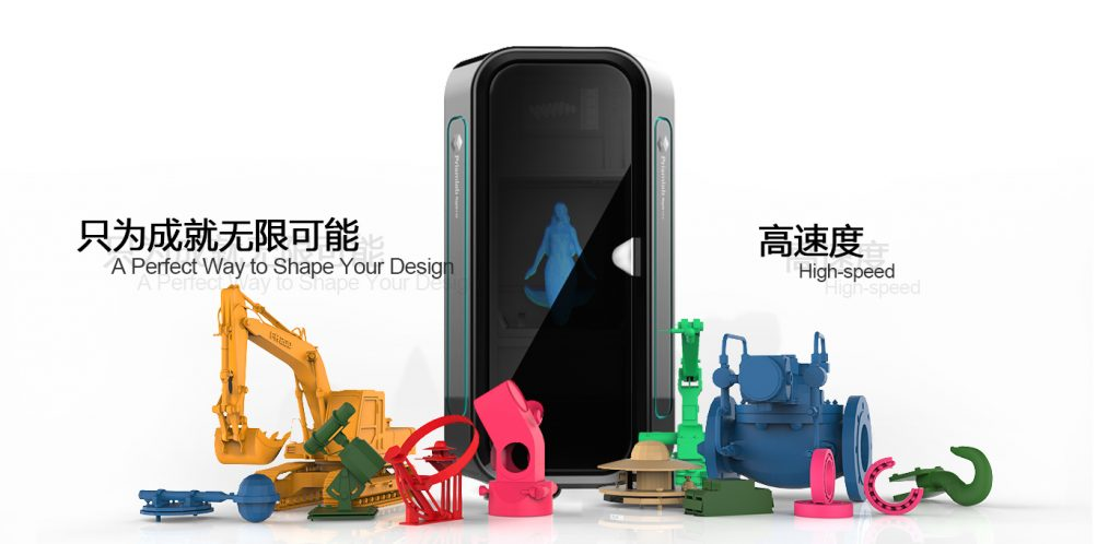 Prismlab 3D printer and products. Image via Prismlab