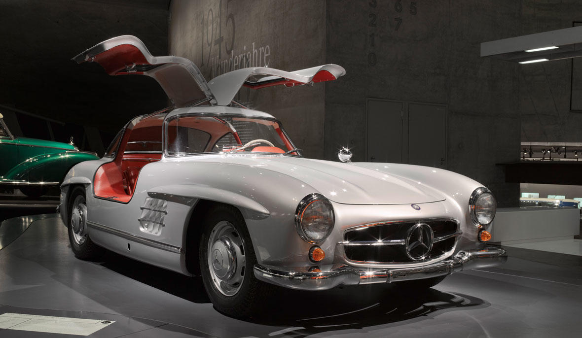The Mercedes-Benz 300 SL Coupe. Image via Mercedes-Benz