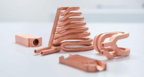 3D printed copper components. Photo via TRUMPF.