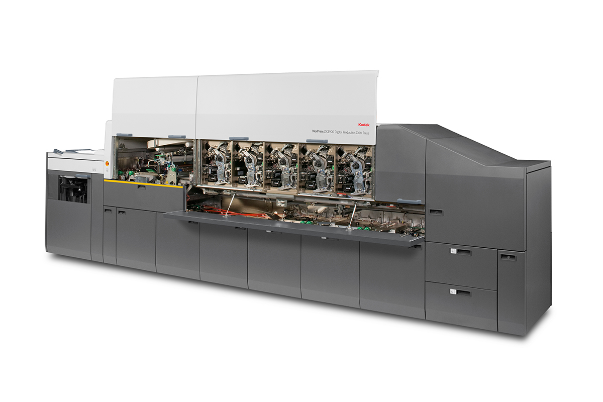 The KODAK NEXPRESS ZX Digital Production Color Platform. Photo via Kodak.