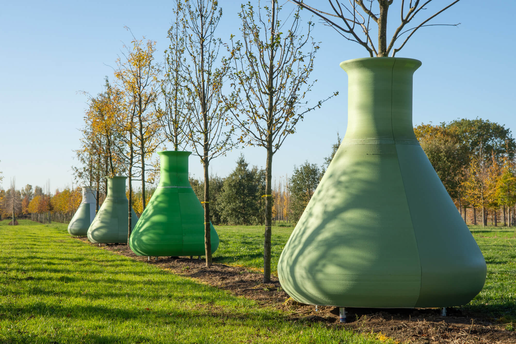 The 3D printed tree pots by Felixx Landscape Architects and Planners. Image via Felixx.