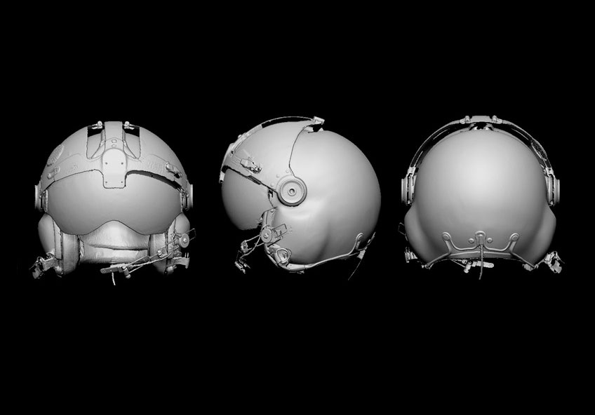 3D scans of film props created by Gentle Giant Studios. Image via Gentle Giant Studios.