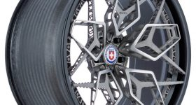 Byzantine, a titanium 3D printed wheel by HRE and GE Additive. Image via HRE Wheels.