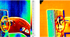 Use of thermal imagery to test the titanium components in the study. Image via IOP Publishing