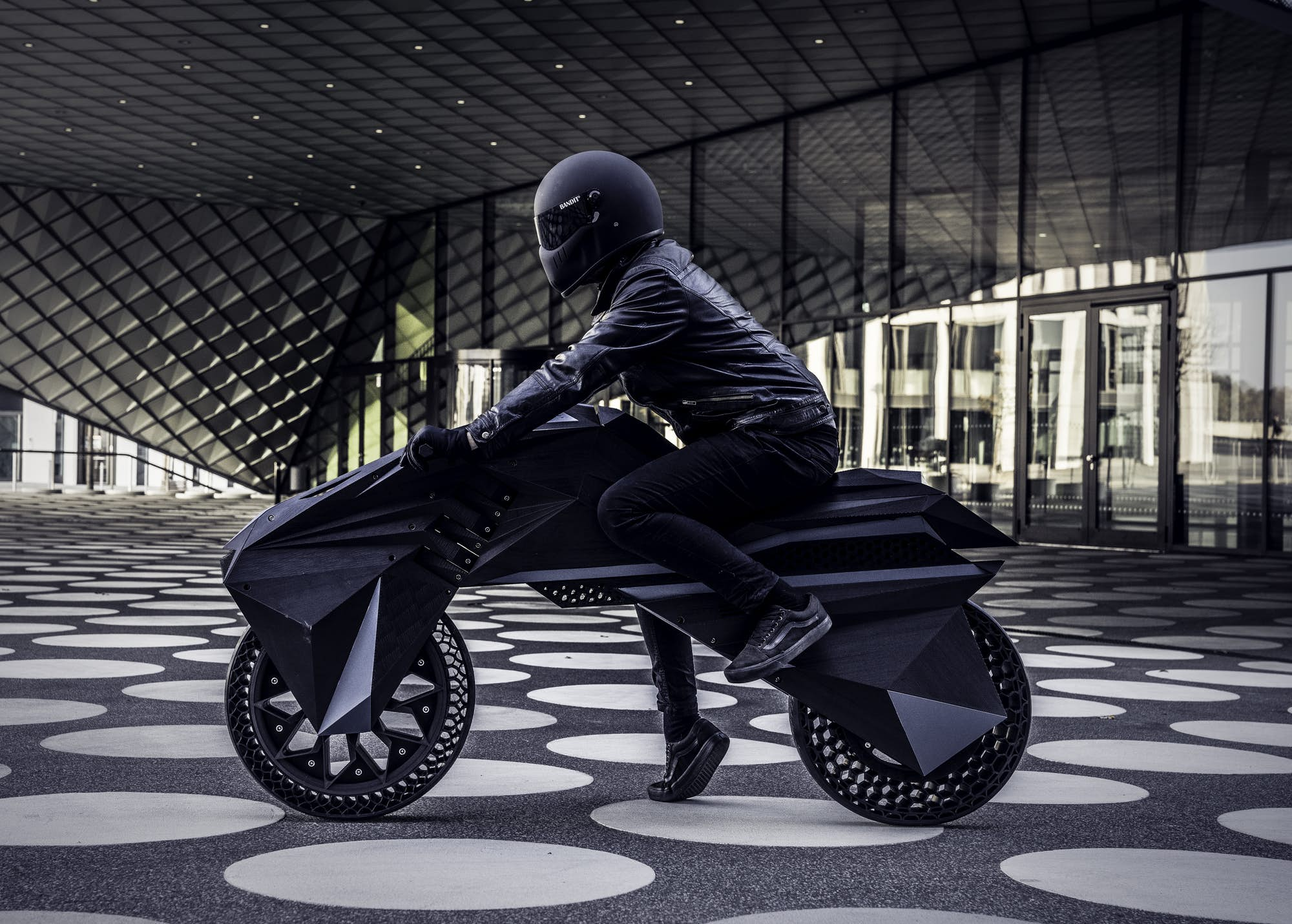 The Nera e-motorbike by BigRep. Image via BigRep