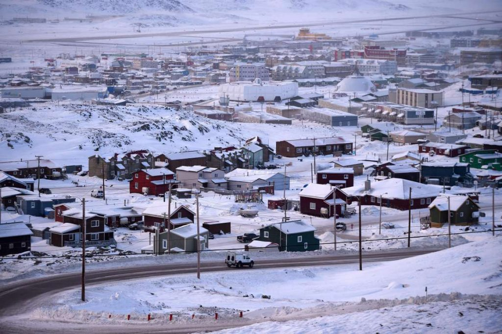 The town of Iqaluit, Nunavut, in Canada's North. Photo by Sean Kilpatrick / The Canadian Press