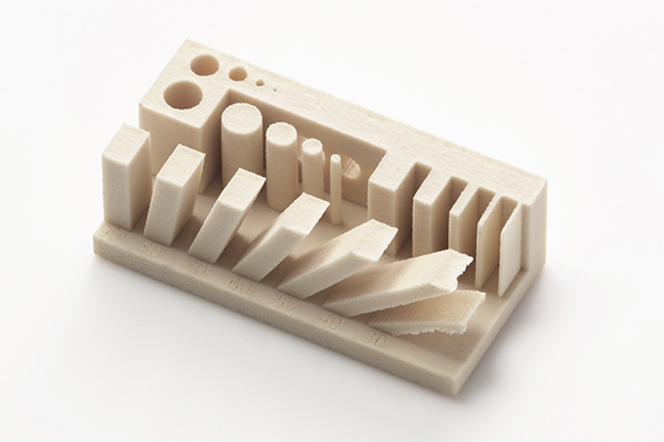 3D printed stress-test of Canon's ceramic material. Photo via Canon Inc.