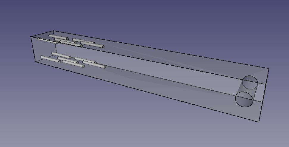Hollow fiber reinforced test beam. Image via Dr. Adrian Bowyer/RepRap Ltd.