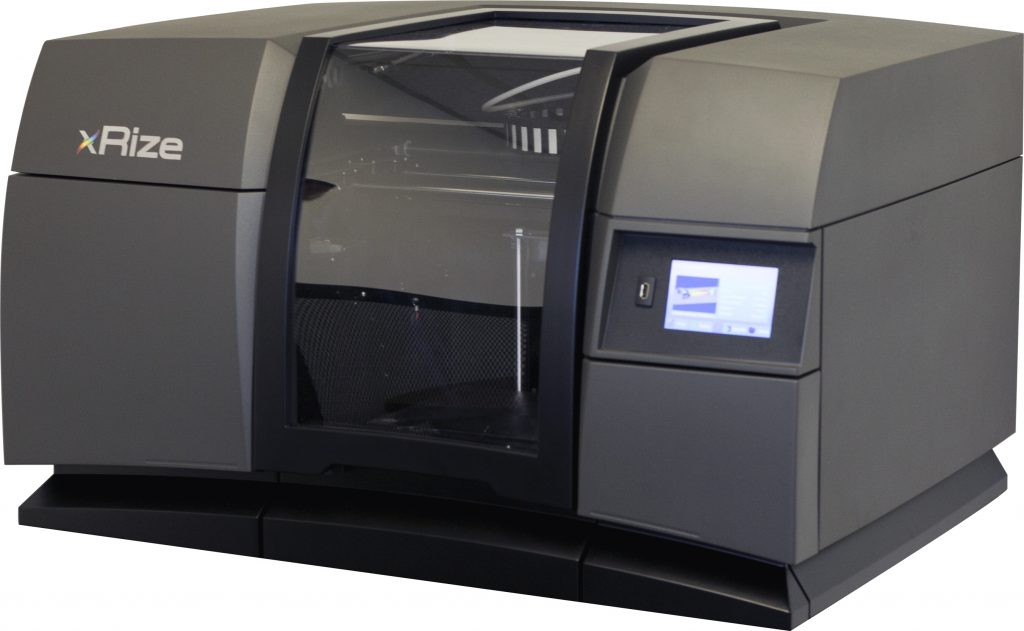 The XRIZE full color desktop 3D printer. Photo via RIZE