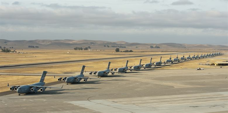 The Travis Air Force Base, Fairfield, California. Photo via the U.S. Air Force/Heide Couch