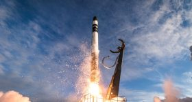 The launch of Rocket Lab's Electron booster. Image courtesy of Trevor Mahlmann/Rocket Lab