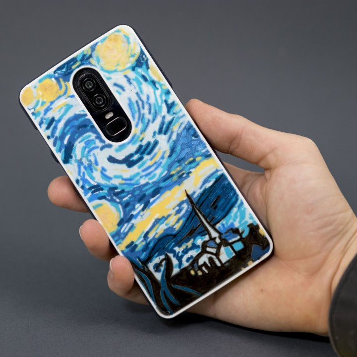 the Starry Night phone case by Devin Montes. Image via MyMiniFactory