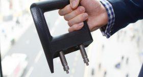 A 3D printed grab handle. Image via Stratasys