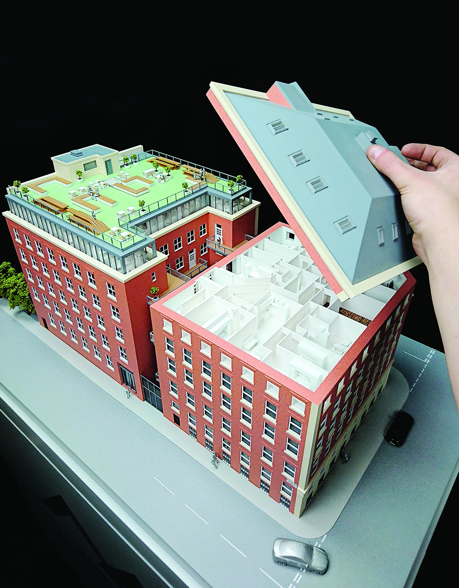 An example of a 3D printed architectural model by Hobs 3D. Image via Hobs 3D