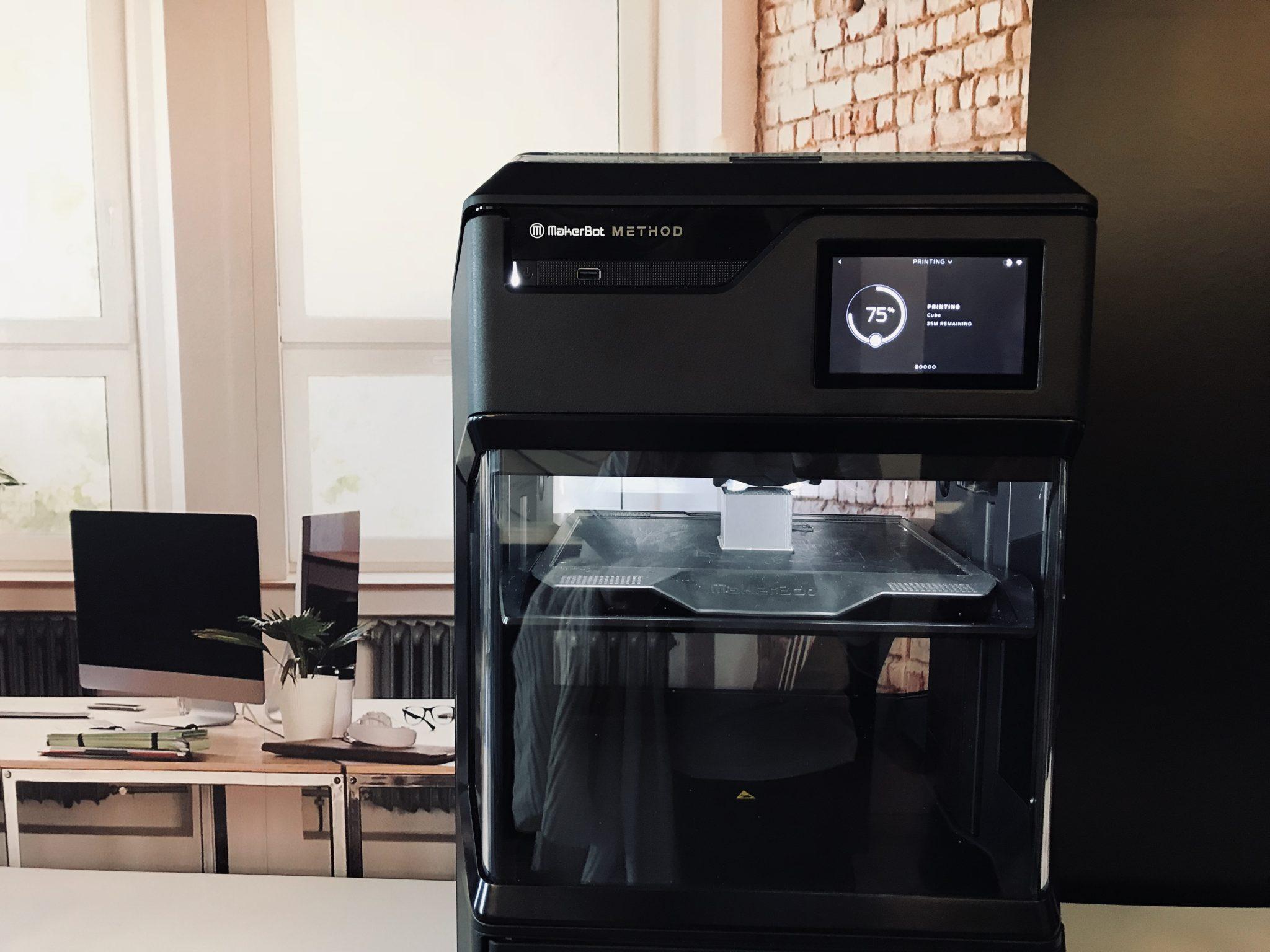 The MakerBot Method 3D printer. Photo via Beau Jackson