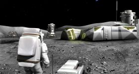 An artist's rendition of a Moon base. Image via ESA