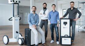 NavVis founders (L-R): Robert Huitl, Sebastian Hilsenbeck, Felix Reinshagen, and Georg Schroth. Photo via NavVis.