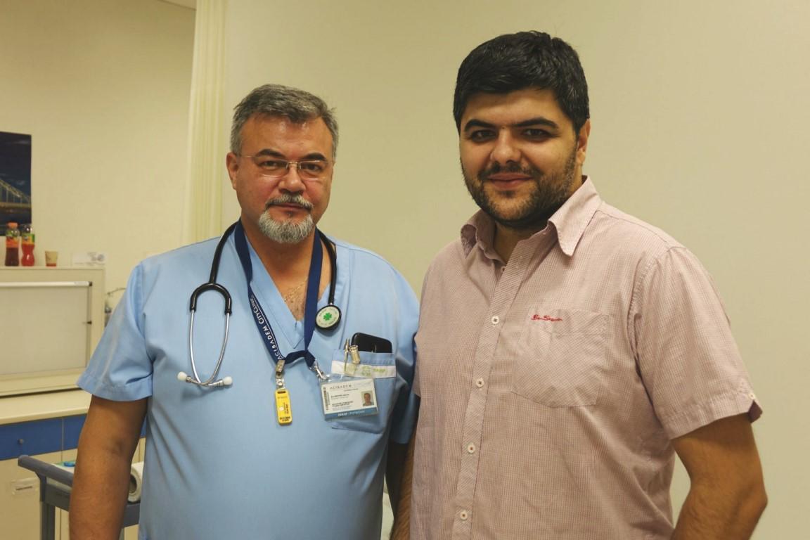 Dr. Tzvetan Minchev (left) with Ivaylo Josifov. Image via 3DGence.