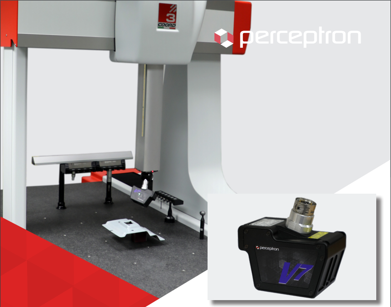 The Perceptron V7 for CMMs. Image with Percetron V7 brochure