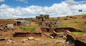 The ruins of the Pumapunku. Image via Wikipedia