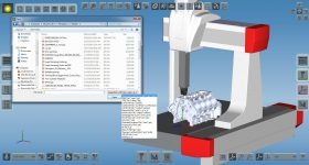 TouchDMIS CMM interface. Image via Perceptron