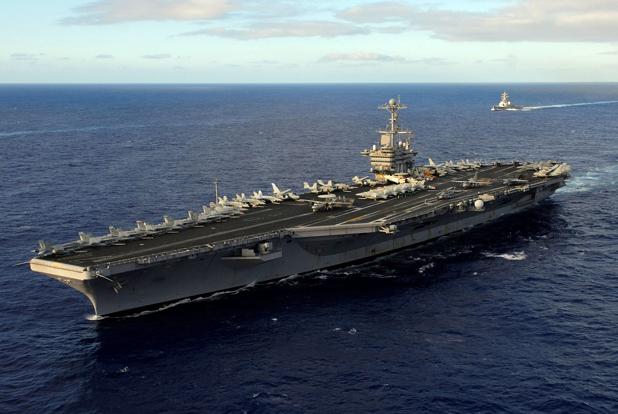 The John C. Stennis Carrier. Photo via the U.S. Navy.